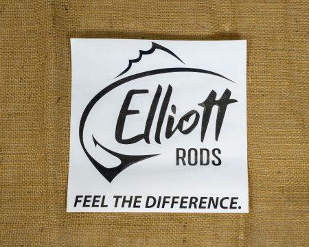 Elliott Rods Decal - Black