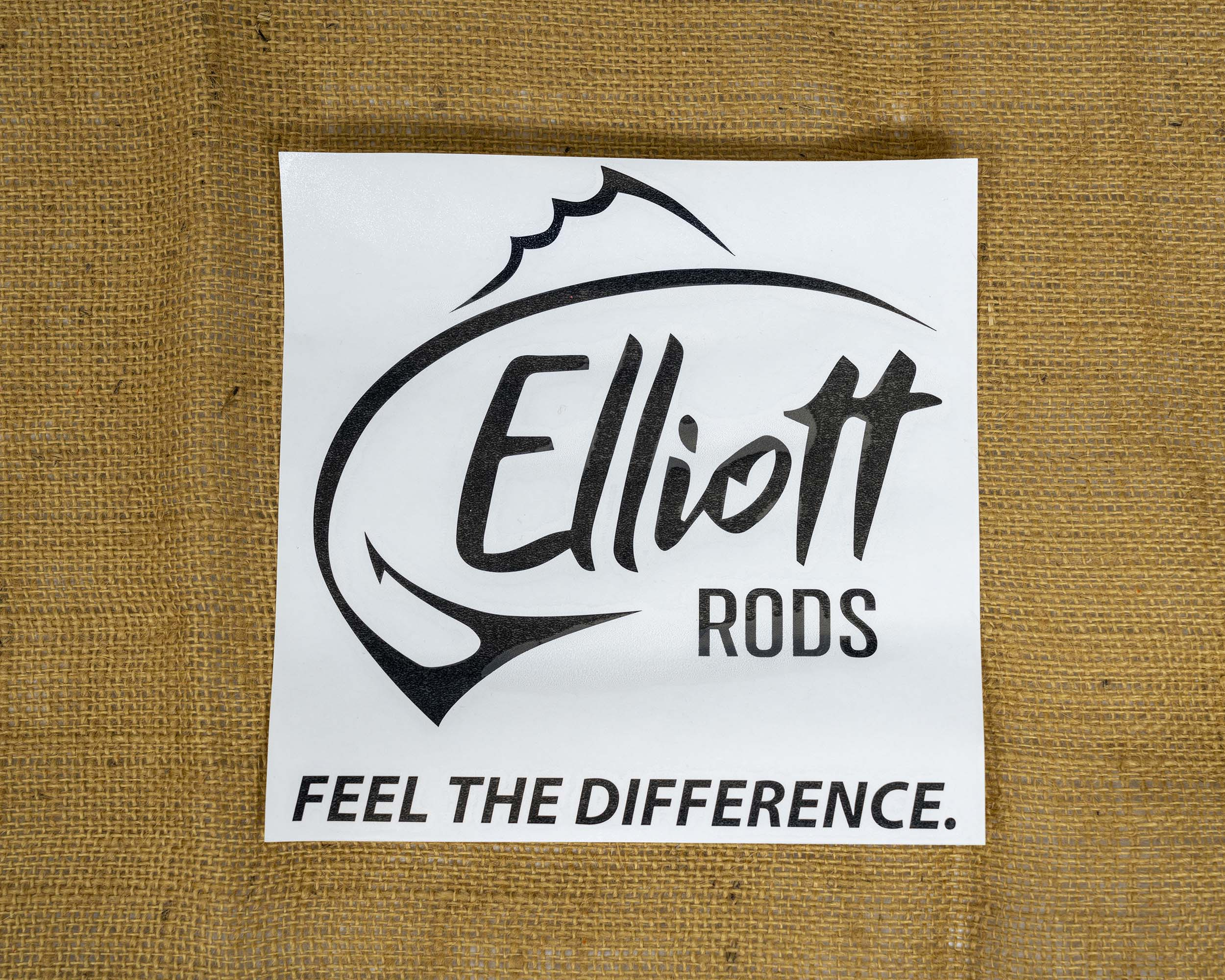 Elliott Rods Decal Black